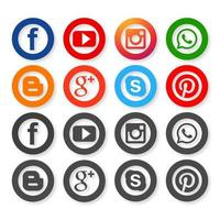 Icons für Social-Networking-Design
