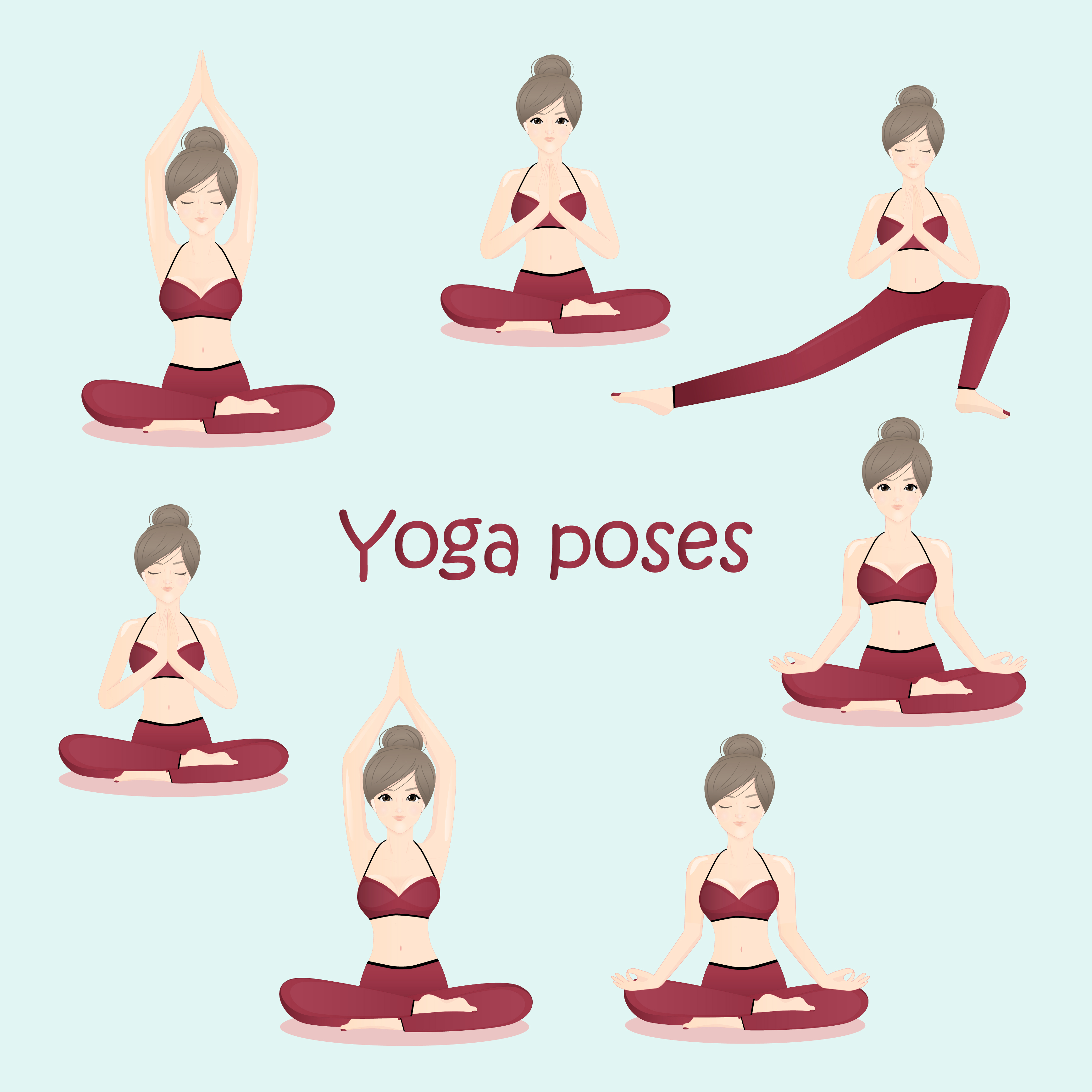 Fitness Woman Sitting In Yoga Posture Download Free Vectors Clipart Graphics Vector Art