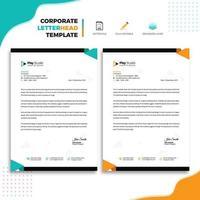 Design för mallar för företagsaffärsbrevpapper