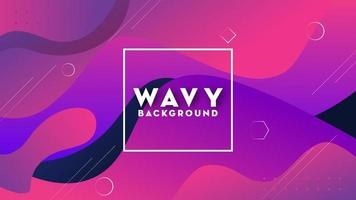 Wavy shape abstract background with gradient