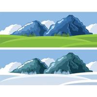 Mountains In Different View