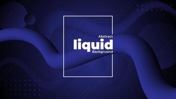 Fondo líquido degradado azul real vector