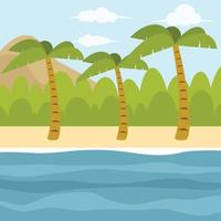 Palm Trees In An Island