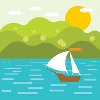 Un bateau dans la rivière