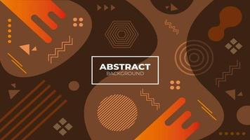 Abstract Brown Geometric Background vector