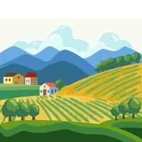 El campo en pueblo