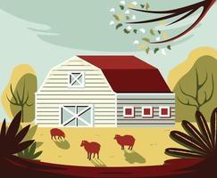 A Farm Near The Field