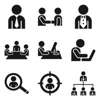 Business Men Icon Set vector