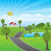 Una strada per il villaggio