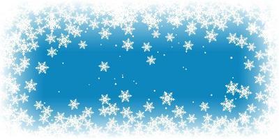 Banner de floco de neve de Natal vetor