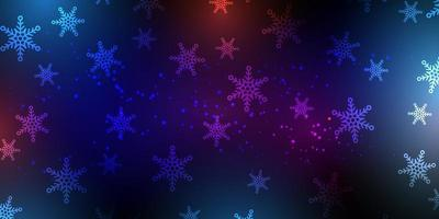 Jul snöflinga banner