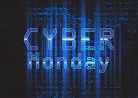 Techno modern Cyber Monday background