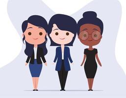 Professionele vrouwelijke tekens instellen