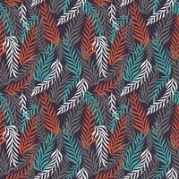 floral foliage leaf seamless pattern