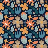 flower big blossom seamless pattern background