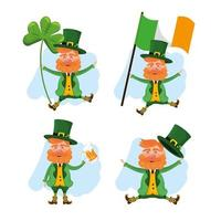 set st patrick man with hat and suit