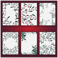 set of christmas tree background and texture