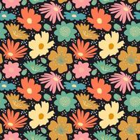 flower blossom big seamless pattern