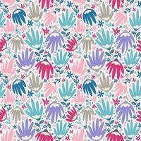 flower blossom seamless pattern foliage background