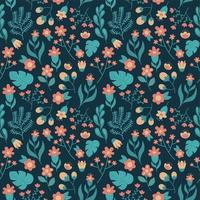 flower nature foliage seamless pattern