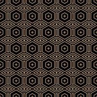 geometric gold line seamless pattern