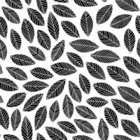 hoja floral botánica de patrones sin fisuras
