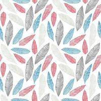 leaf outline seamless pattern colorful background vector