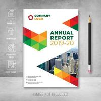 Annual report cover page design templates vector
