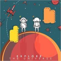 Fondo abstracto de tecnología y explorador espacial vector