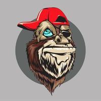 Illustration vectorielle de singe animal Gangster
