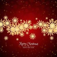 Joyeux Noël fond avec des flocons de neige