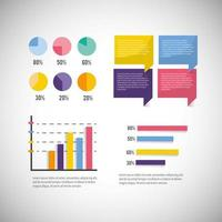 Infografik Business-Diagramm mit Informationsstrategie