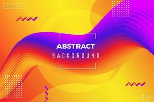 Fondo colorido abstracto líquido 3D