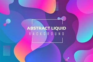 Abstract Background Colorful Liquid vector