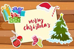 Christmas Greeting Card with decoration stickers