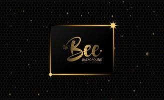 Black Gold Bee Abstract Background vector