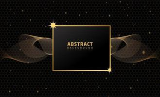 Abstract Black Gold Background