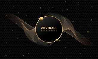 Beautiful Abstract Black Gold Background
