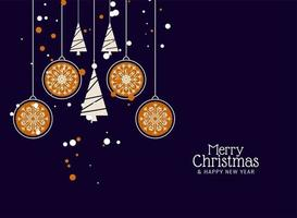 Merry Christmas decorative background vector