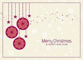 Merry Christmas celebration elegant background
