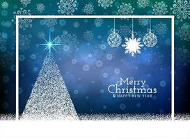 Merry Christmas celebration greeting background vector