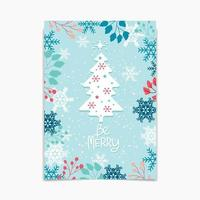 Hello Winter design with Tree and Foliage vector