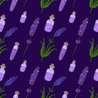 Lavender Hand drawn vintage seamless pattern
