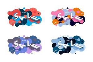 Set van abstracte isometrische verkoop webbanners