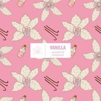 Vanilla Hand drawn vintage seamless pattern