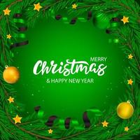 Christmas banner with lettering  vector