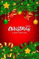 Kerst banner met letters en boom