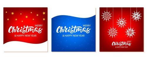 Set van Kerstmis banners met letters