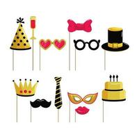 set funny costume to happy birthday