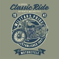 Classic Rider Motorcycle vector